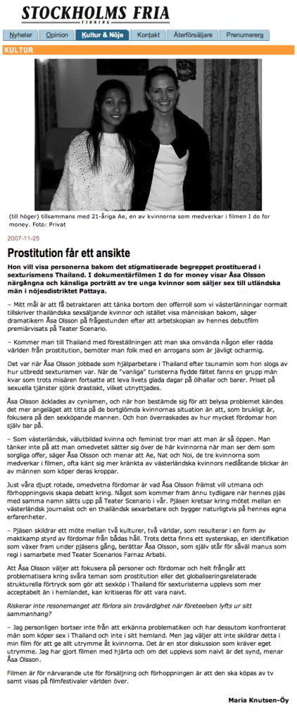 Intervju - Stockholms Fria