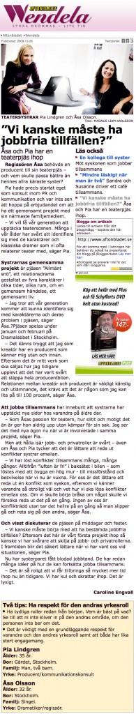 Intervju - Aftonbladet Söndag