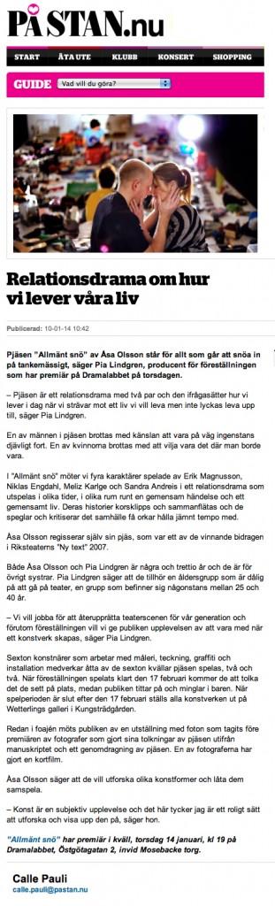 Intervju - DN På Stan