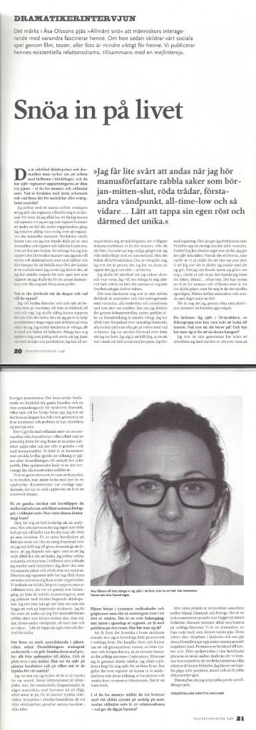 Intervju - Teatertidningen