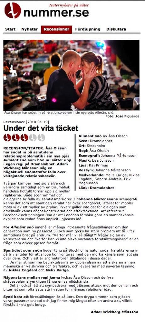 Recension - nummer.se